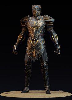 Black Panther Costume, Black Panther Art, Black Panther Marvel, Jaguar, Marvel Statues, Iron Man Suit, Superhero Design, Suit Of Armor, Armor Concept