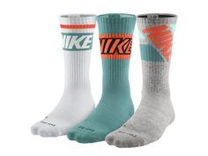 Nike+Dri-FIT+Fly+Rise+Crew+Socks+(Large/3+Pair)