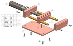 Drill press vise plan - Parts list
