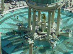 one of many pools at Caesars Palace in Las Vegas...what I wouldn't give to sit by that pool again
