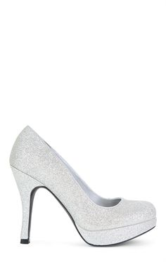 Glitter Low Platform High Heel