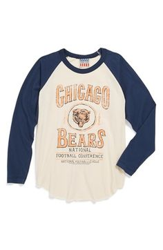 Junk Food 'Chicago Bears' Raglan Long Sleeve T-Shirt (Little Boys & Big Boys) available at #Nordstrom