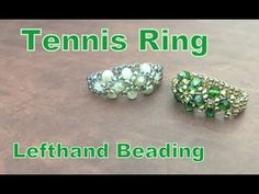 Tennis Ring--Beading Tutorial - YouTube