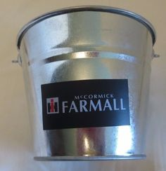 "NEW  ""IH FARMALL LOGO"" GALVANIZED PAIL LOGO USED FROM 1939-1958"