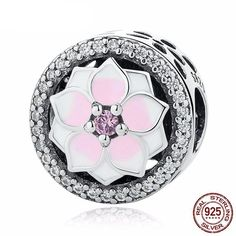 Cheap charm beads, Buy Quality beads pink directly from China pink beads Suppliers: High Quality 925 Sterling Silver Magnolia Bloom Charm Beads Pink CZ Fit Original wst Charm Bracelet Authentic Jewelry Gift Charm Jewelry, Jewelry Gifts, Diy Jewelry, Jewelry Accessories, Fashion Accessories, Jewellery, Pandora Bracelet Charms, Charm Bracelets, Silver Bracelets