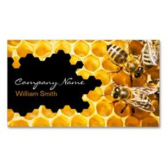 Honey Seller - Beekeeper Business Card - Do you know how important honey bees are? The sad truth is they are dwindling in numbers. Educate yourself about the plight of honey bees and help save them! Drone Bee, Raising Bees, Bee Farm, Bussiness Card, Golden Honey, Save The Bees, Bee Keeping, Queen Bees, Honeycomb