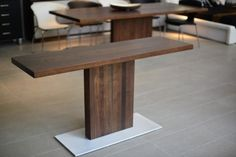 Solid Walnut Custom Made Console Table Modern Furniture, Glass Coffee Table, Walnut Timber, Side Table, Coffee Table Design, Dining Table, Table, Console Table, Furniture Design