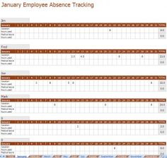 download the free 2016 employee attendance tracker template use