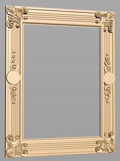 A50 Entry Furniture, Mirrored Furniture, Window Glass Design, Box Picture Frames, Spiral Art, Printable Frames, Wood Carving Patterns, Front Door Design, Antique Frames