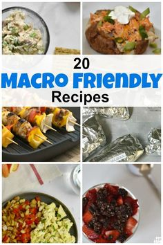 20 different macro friendly recipes that can be easily customized to hit your macros! Macro Friendly Recipes, Macro Recipes, Low Carb Recipes, Healthy Recipes, Healthy Meals, Healthy Options, Healthy Habits, Yummy Recipes, Macro Meal Plan