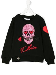 Cute Philipp Plein Junior Skull Sweatshirt
