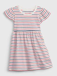 Toddler Skater Dress   Gap Baby Summer Dresses, Summer Outfits, Summer Clothes, Little Girl Outfits, Cute Little Girls, Old Navy Gap, Skater Dress, Striped Dress, Blue Stripes