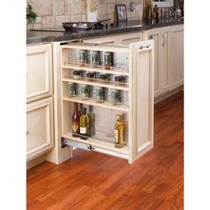 Rev-A-Shelf 30 in. H x 9 in. W x 23 in. D Pull-Out Between Cabinet Base Filler with Stainless Steel Panel-433-BF-9C - The Home Depot