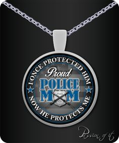 Proud Police Mom: Necklace