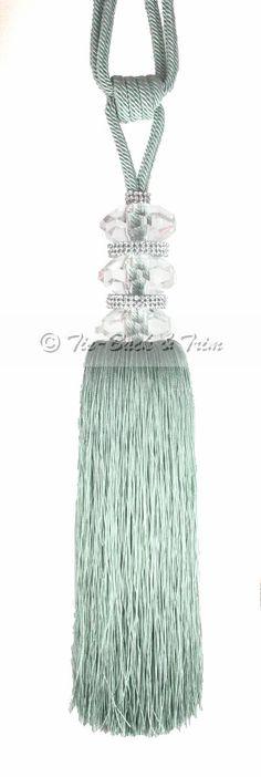 Elle Crystal Curtain Tassel Tie Backs Eau De Nil - Product Detail - Tie Back and Trim