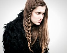 Seems easy enough.Why Knot: 19 High Fashion Braids via Brit + Co. Rock Hairstyles, Pretty Hairstyles, Braided Hairstyles, Viking Braids, Viking Hair, Small Braids, Beautiful Long Hair, Look At You, Up Dos