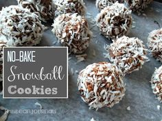 A hot stove is all you need to stir together these yummy chocolate coconut snowball cookies. Perfect thank you gifts and pretty on a Christmas cookie tray.