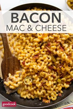 Best-Ever Bacon Macaroni and Cheese - Good Cook Mac And Cheese Homemade, Bacon Mac And Cheese, Creamy Mac And Cheese, Mac Cheese Recipes, Pasta Recipes, Macaroni And Cheese, Dinner Recipes, Cheese Dishes, Tasty Dishes