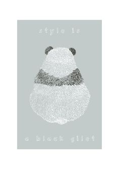 Panda illustration print - via Etsy.
