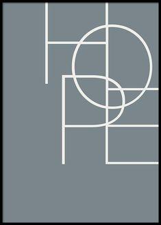 Hope blue Poster i gruppen Posters / Storlekar / 50x70cm hos Desenio AB (2841)