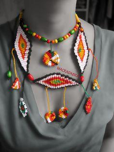 Colorido y divertido #collar en #Macrame