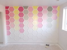 Made a hexagon wall for the kid (#QuickCrafter)