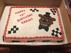 🐻 five nights at Freddy's cake