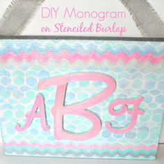 Make your own Sweet DIY Monogram project at the Michaels & Hometalk Pinterest Party #MPinterestParty
