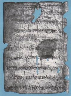 A Merovingian charter from the second half of the 7th century, which is the oldest written document kept in Bruges. In 1852 it was discovered by coincidence in a 13th century codex that originates from the Cistercian Abbey Ten Duinen. The Merovingian fragment measuring 21 by 15 centimeters was used in the codex to strengthen the bond. The document regulates the sale of land from private ownership to a religious institution. Based on the pagus mentioned 'Bajocassino' is the piece of land…