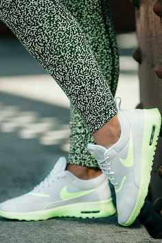 Cute work out leggings and trainers.