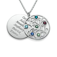LOVE this! Saving it.. :) Filigree Family Tree Birthstone Necklace | MyNameNecklace