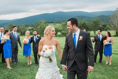 Delaware Wedding Photographer. Virginia Wedding. Kings Family Vineyard.  Royal Blue and Orange Wedding.  Elegant Wedding.  Fine Art Wedding Photography.  Plum Pretty Sugar Rompers.  Bridal Romper.
