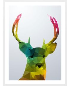 Crystal Deer as Framed Art Print by Three Of The Possessed | Art. Everywhere.
