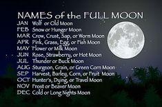 moon names - Google Search