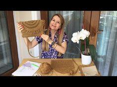 Kağıt ipten çanta ve kapağının ayrıntılı olarak yapılışı. Kağıtip çanta, hasır görünmlü clutch çanta - YouTube Hand Embroidery Dress, Flower Embroidery Designs, Japanese Embroidery, Hand Embroidery Stitches, Embroidery Techniques, Beaded Embroidery, Cross Stitches, Needlework Shops, Crochet Handbags