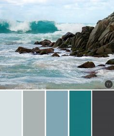 nautical blues and water hues palette