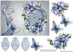 Topper - Porcelain Roses on Frame Details