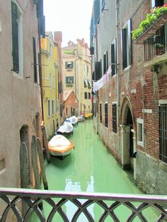 One of the canals in Venice.  Trip to Italy 2014