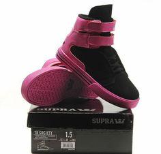 http://www.suprafootwearoutletonline.info/kids-supra-sneaker-black-pink-p-122.html    Kids Supra Sneaker - Black Pink