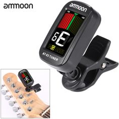 ammoon AT-03 Clip-on Electric Tuner Color LCD Screen 360�� Rotatable for Guitar Bass Violin Chromatic Ukulele Universal Exquisite Portable
