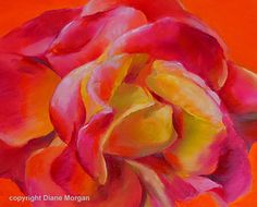 Rosy Glow by Diane Morgan, Oil