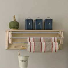 nice idea. should consider this clothes hanging in my tiny laundry room