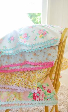 crochet-trimmed pillowcases