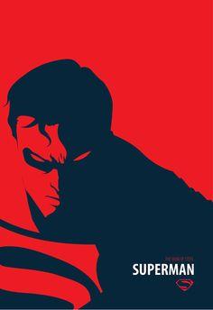 Man of Steel (2013) ~ Minimal Movie Poster by Peter Mijic ~ DC Series #amusementphile