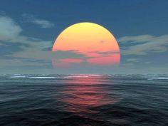 Arctic Ocean sunset.