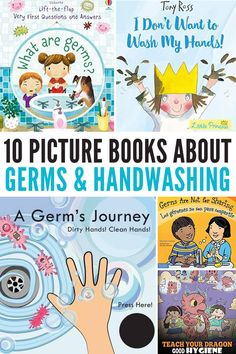 10 Books to Inspire Good Handwashing & Healthy Hygiene Habits health activities health care health ideas health tips healthy meals Preschool Lesson Plans, Preschool Books, Kindergarten Activities, Toddler Preschool, Activities For Kids, Books For Preschoolers, Germs For Kids, School Social Work, Pre School