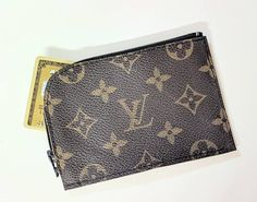 Lv business card holder repurposed louis vuitton small wallet lv card holder upcycled lv coin purse repurposed louis vuitton louis vuitton cards colourmoves Images