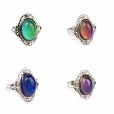 Women Rings - Antique Silver Plated Color Changing Mood Ring, design of rings in gold, new design gold ring, white diamond rings for women, large silver rings for women, black gold rings women, gold and silver rings for women, engagement rings in gold for women,