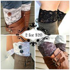 Lace boot cuff Accessories