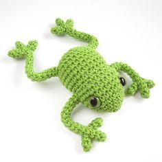 Green amigurumi frog  Crochet  Stuffed animal  Soft by SIDRUNsZoo, €24.50